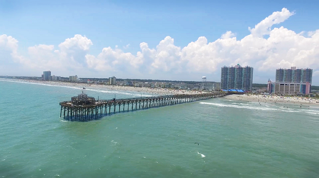 Stroll on the Cherry Grove Fishing Pier.