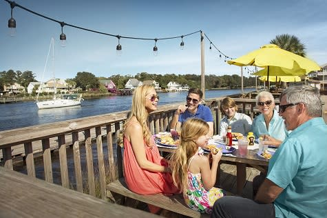 Dine beside a beautiful waterway in North Myrtle Beach.