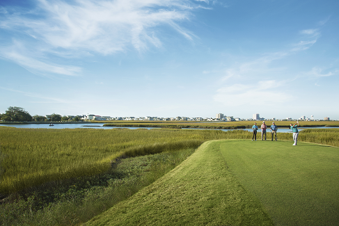 Playing a round of golf is a great way to get outside in North Myrtle Beach.