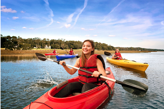 Kayak through inlets and waterways in North Myrtle Beach