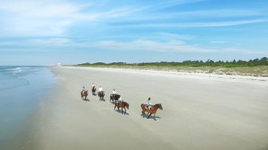 Ride horses at Inlet Point Plantation.