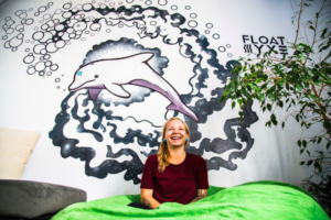 Gina at Float Now's Saskatoon location