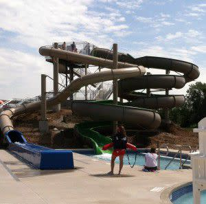 Check out the water slides!