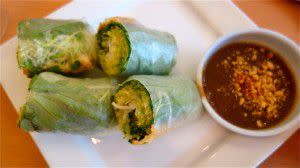 Crispy Tofu and Vegetables Wrapped in Rice Paper appetizer