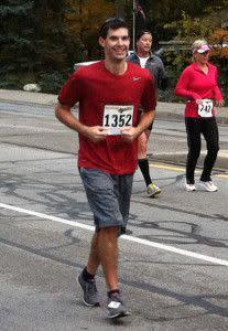 Jason running - 2012 Purdue Mini Marathon
