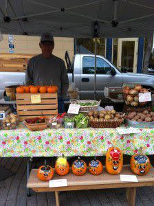 Farmers Market- Please note this photo was taken in October of 2012.
