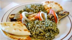 Grilled swordfish kebab
