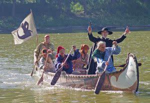 canoe at feast. dan hester