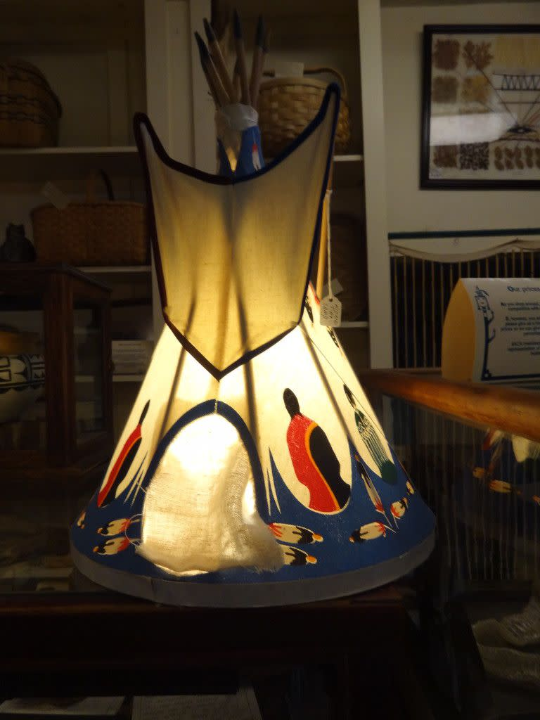 My sister loves Native American Art - She will love this one of a kind lamp!