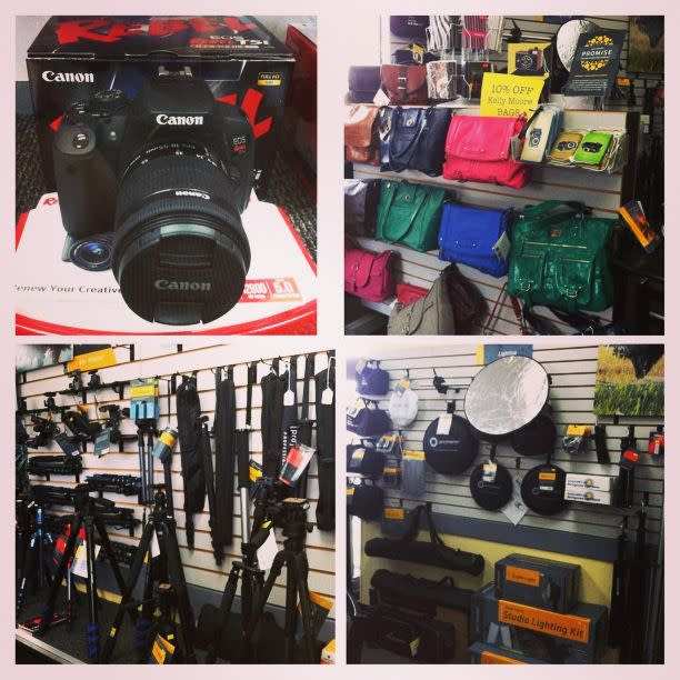 My husband loves photography - Camera Outfitters has professionals to help find the perfect camera and accessories!
