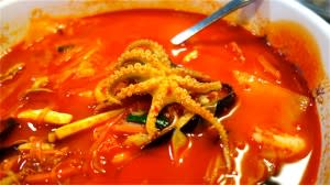 Try Hot and Spicy Seafood at Gaza Korean Grill - And yes, that is an Octopus!!