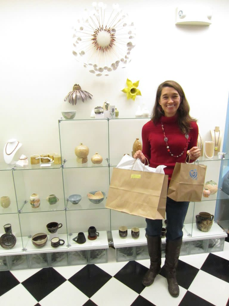 Past Visit Contest Winner, Kim, shops at Grateful Heart!