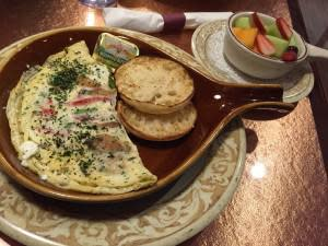 Skinny Omlette with Fruit and English muffin