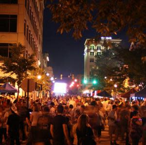 TASTE of Tippecanoe 2015 night crowd