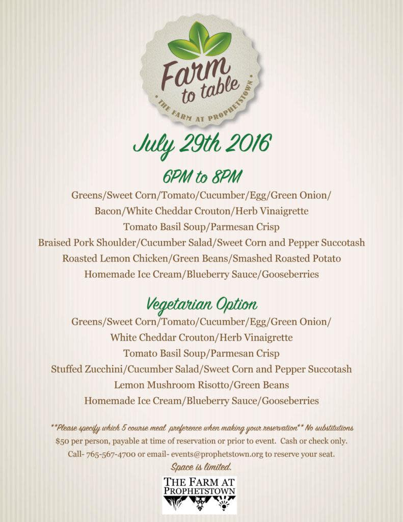 Farm 2 Table July 29.16