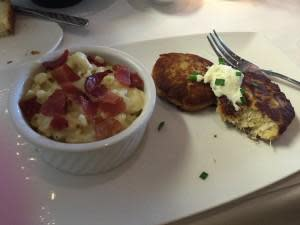 Special Dinner - Bacon Crab cakes and Mac N Cheese!