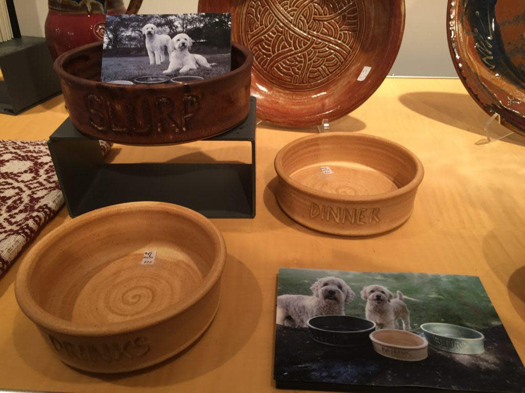 Get a special doggie bowl for your pet! at Artists' Own!
