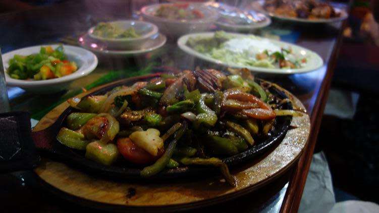 Veggie Fajitas from La Hacienda