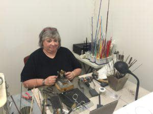 Local artist Linda Elmore creating masterpieces at LE Originals