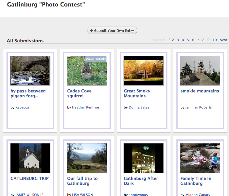 Gatlinburg Facebook Photo Contest