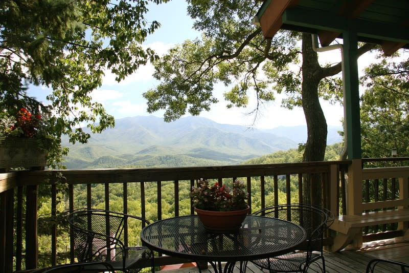 Deck View From Gatlinburg Cabin