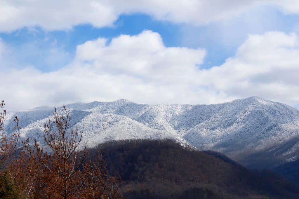 Gatlinburg Smoky Mountains Snowfall Winter