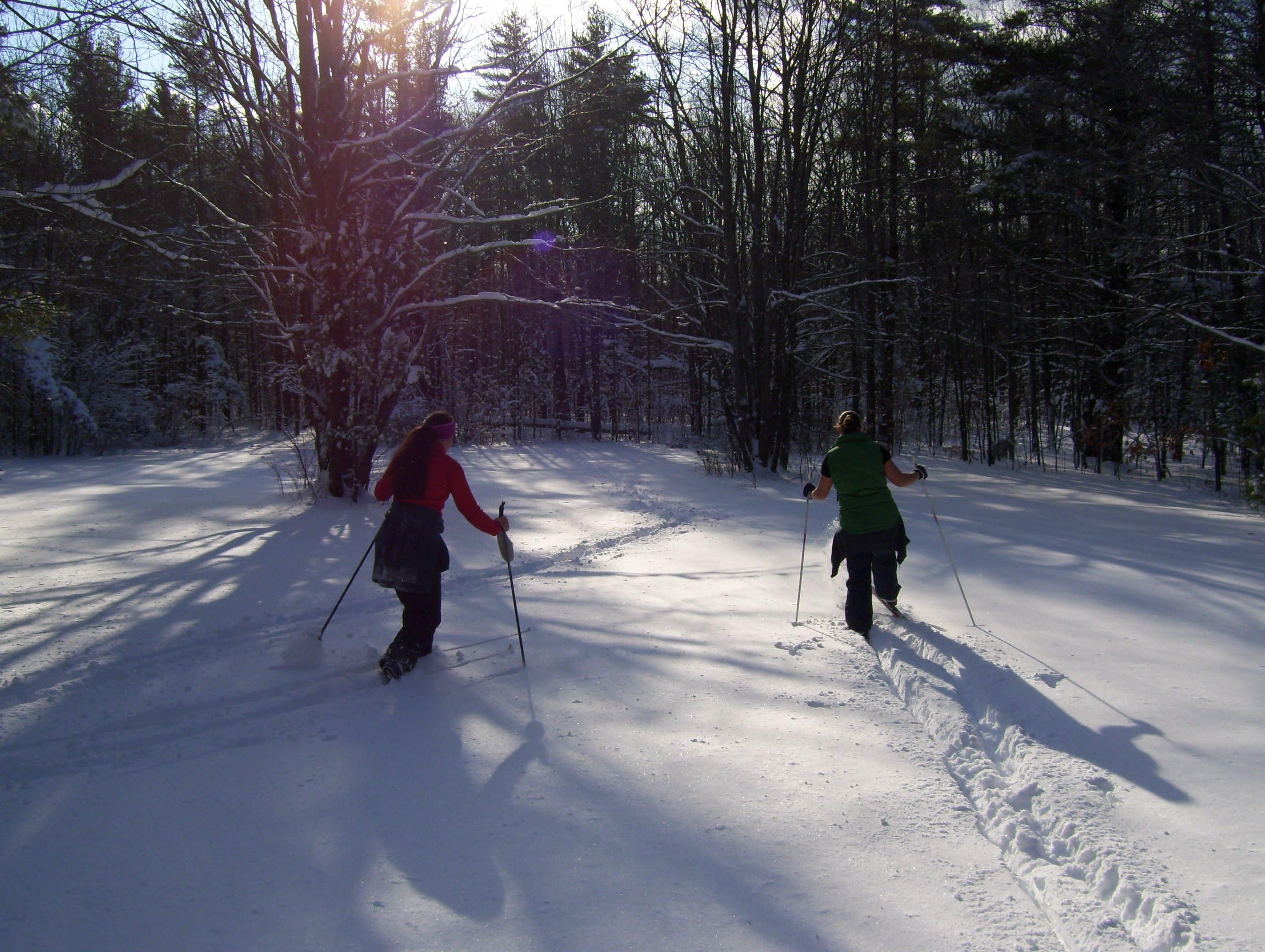 skiing behind NF