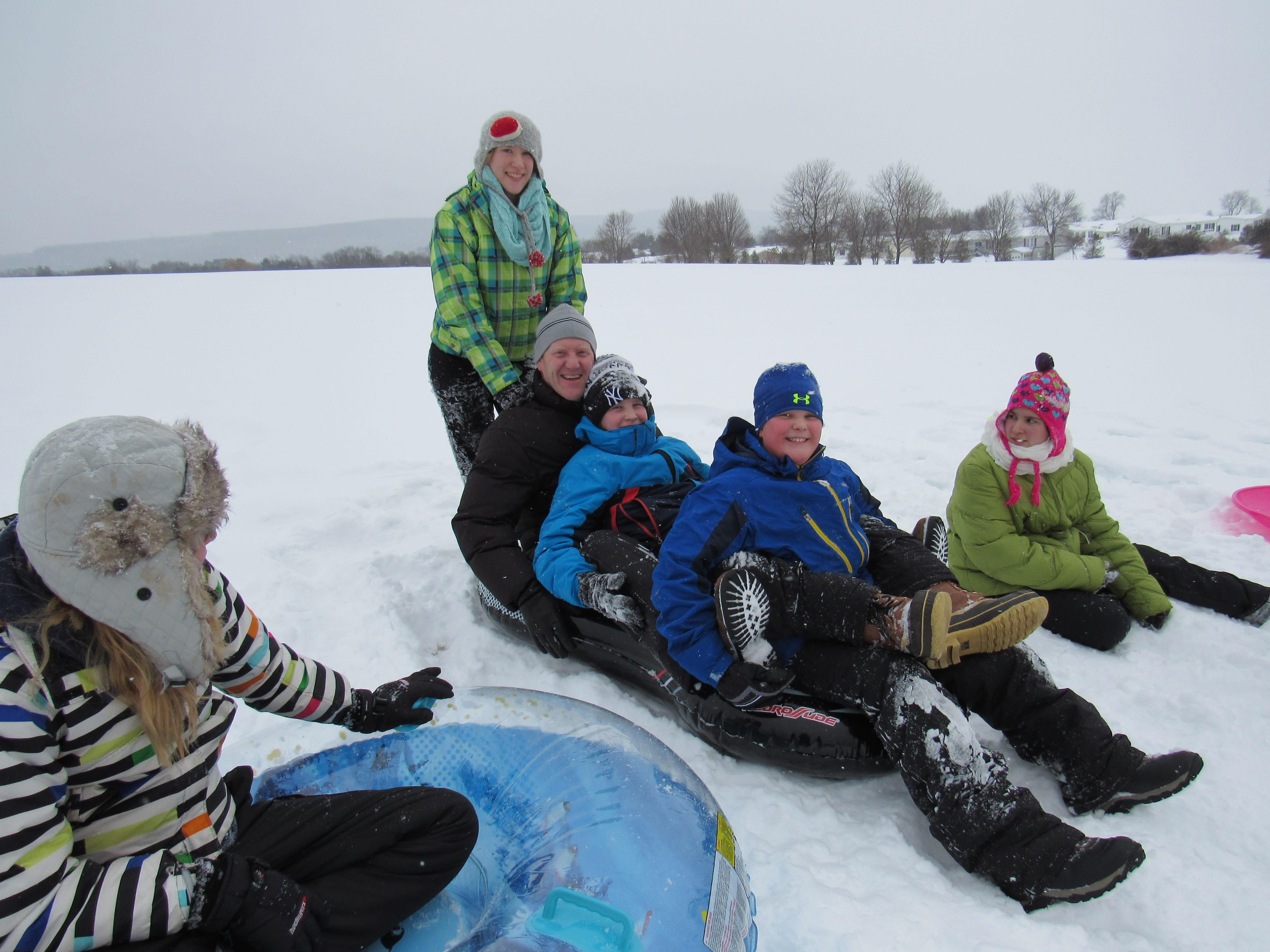 Sledding fun - family style!