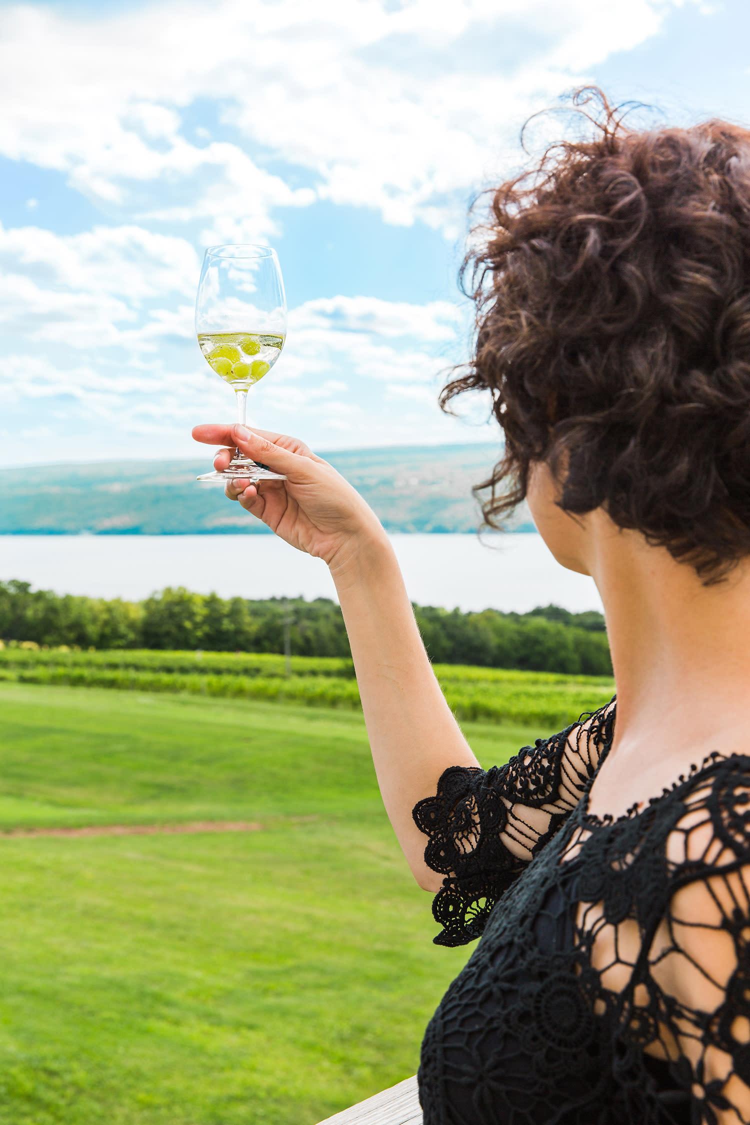 Woman Swirling Wine