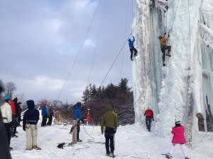 Peabody Ice Climbing Club in Fenton.