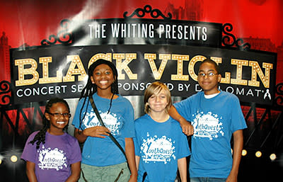 Community partnerships result in YouthQuest students visiting 'Black Violin' soundcheck
