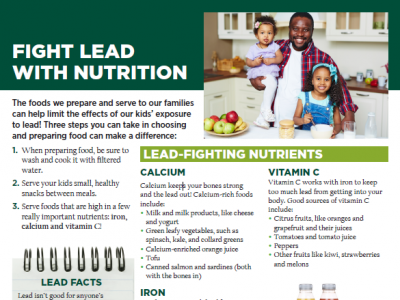 Fighting Lead with Nutrition: Informational Resources, Upcoming Cooking Demos