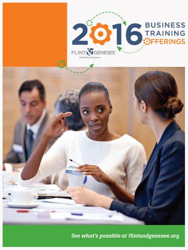 Business Development, Flint, MI, Training Catalog graphic - Flint & Genesee