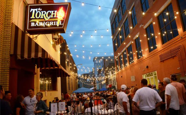 The Torch Bar and Grill, downtown Flint, Michigan