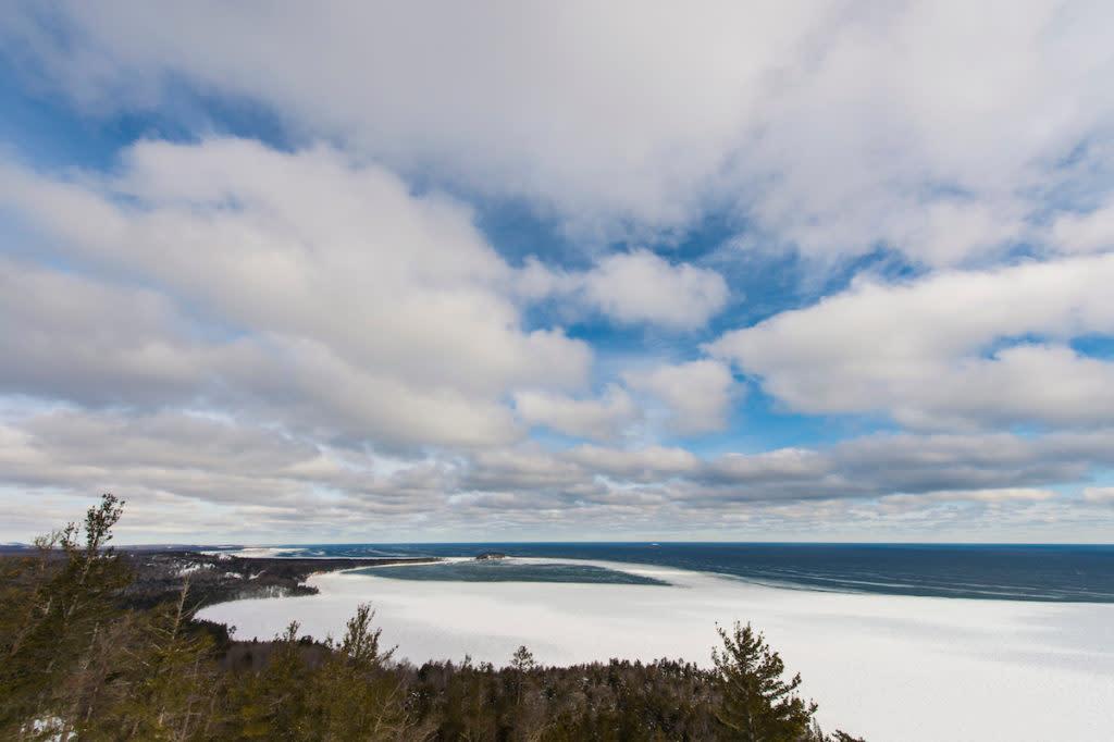 Lake Superior from atop Sugarloaf Mountain near Marquette, Michigan.