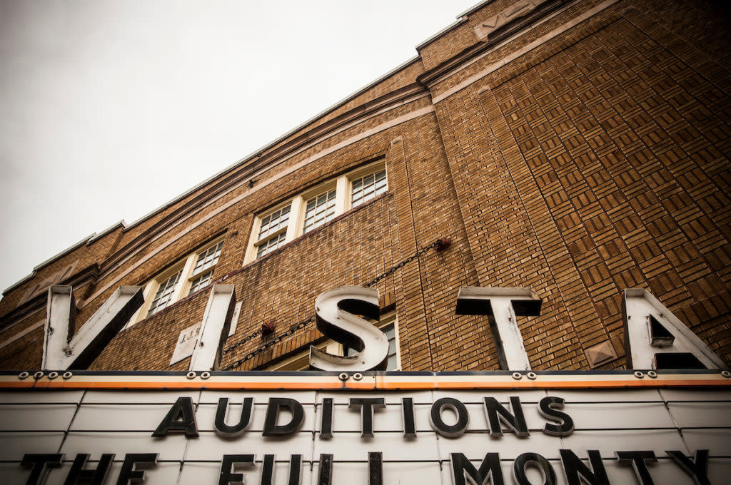 Vista Theater in downtown Negaunee, Michigan