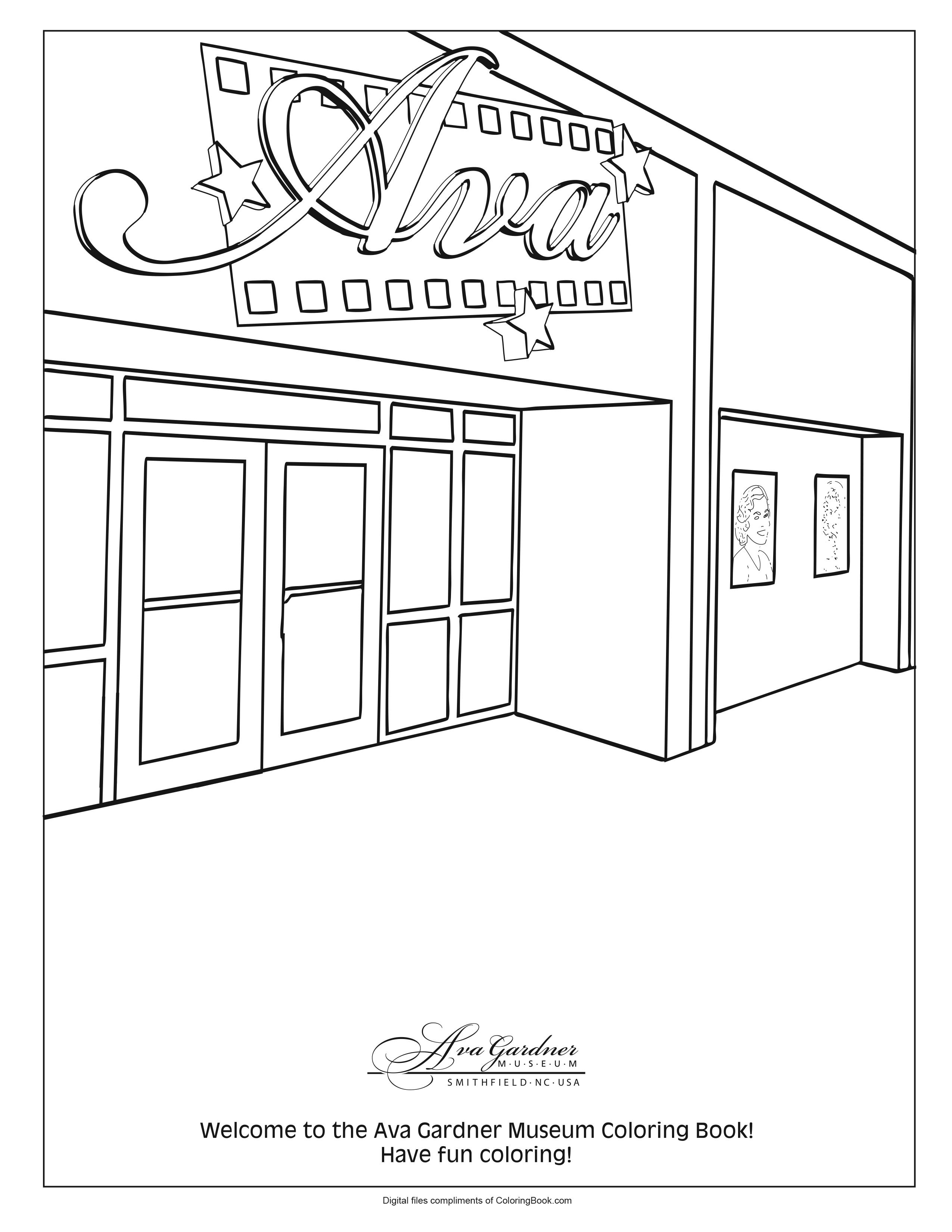 Ava Gardner Coloring Pages_1