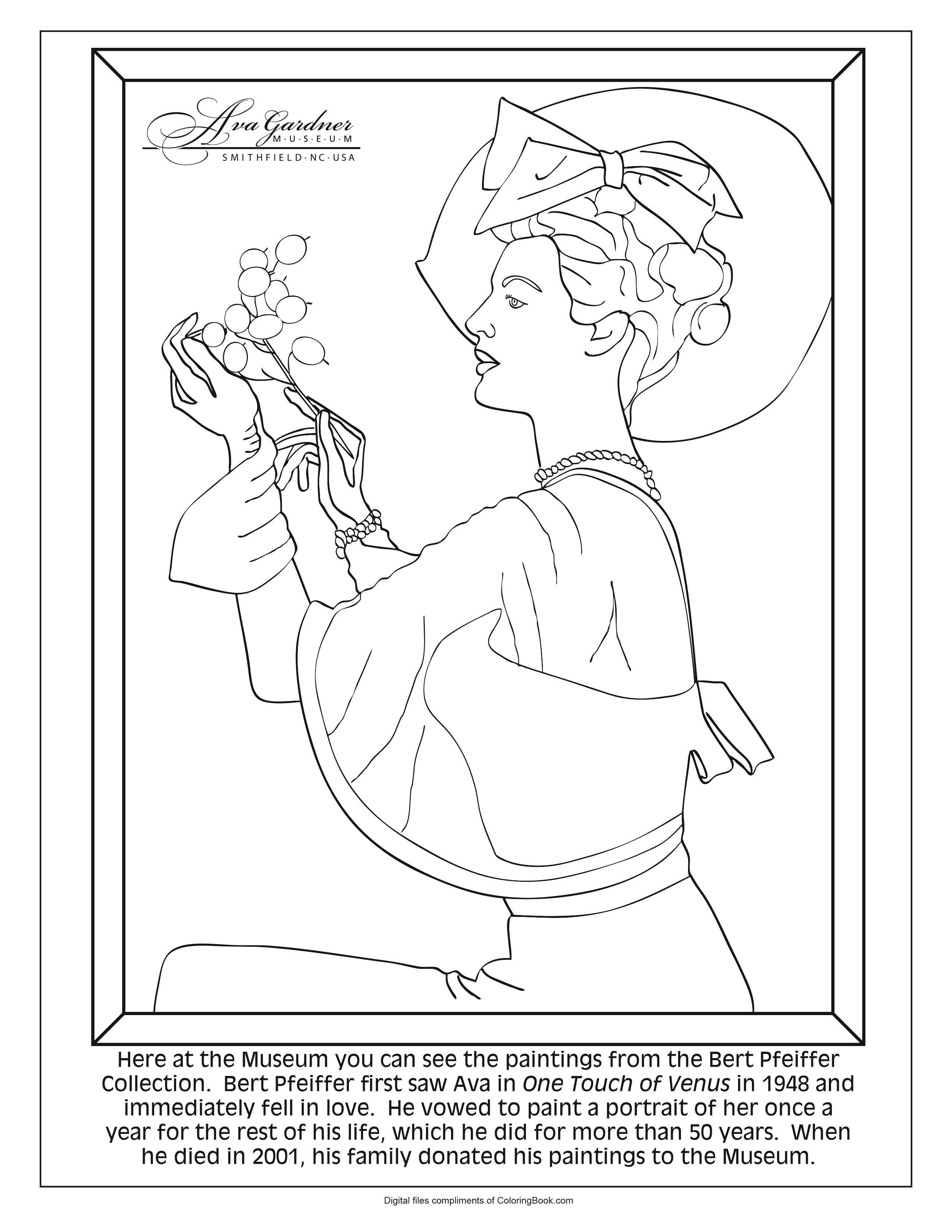 Ava Gardner Coloring Pages_3
