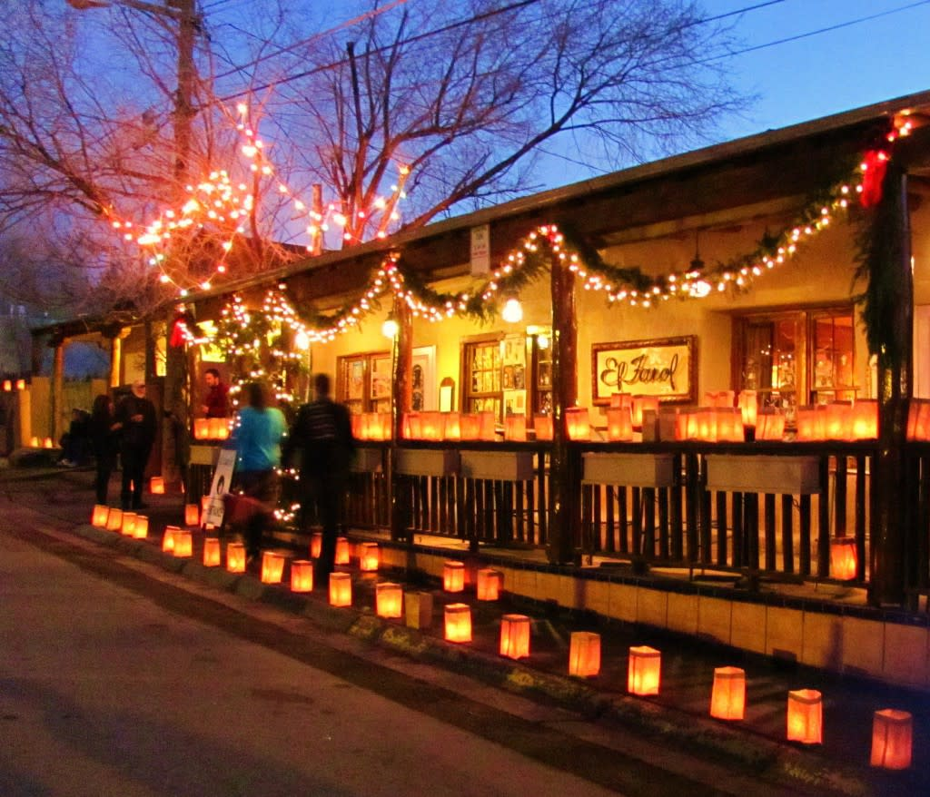 Be sure to take a stroll on Canyon Road on Christmas Eve. Photo courtesy of FX Cordero