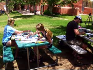 Sketching Santa Fe is a fun-filled family affair.