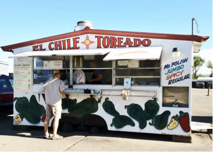 Red or green, they'll ladle it in and serve it up toasted at El Chile Toreado.