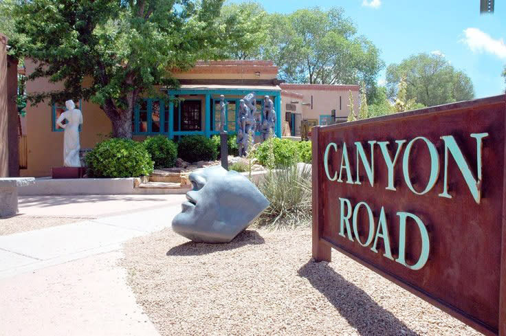 Invite your feet to lead you to the flavors of Canyon Road.