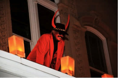Look for a devilish display at Las Posadas on the Santa Fe Plaza. (Photo from the archives of the New Mexico History Museum)