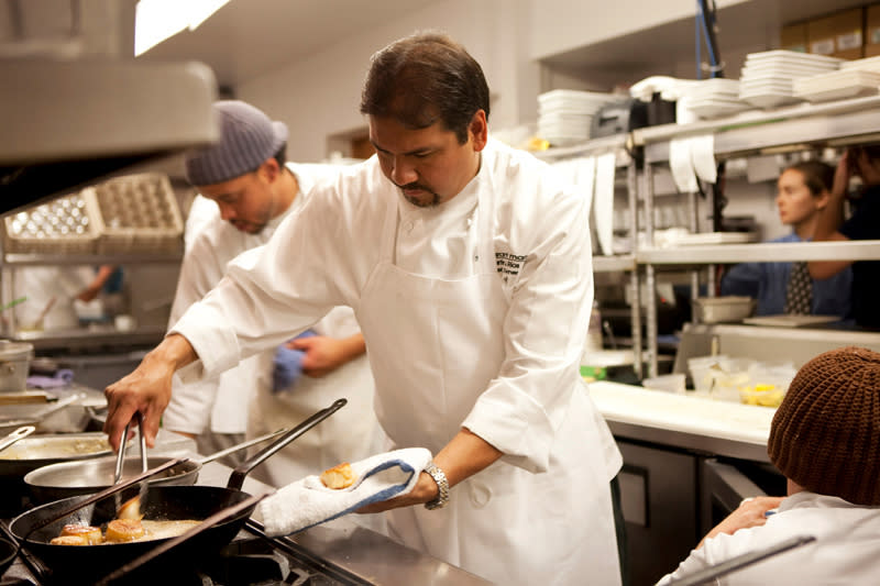 Chef Martín Rios (center) of Restaurant Martín was selected as a Guest Chef to The James Beard Awards Gala in 2011.