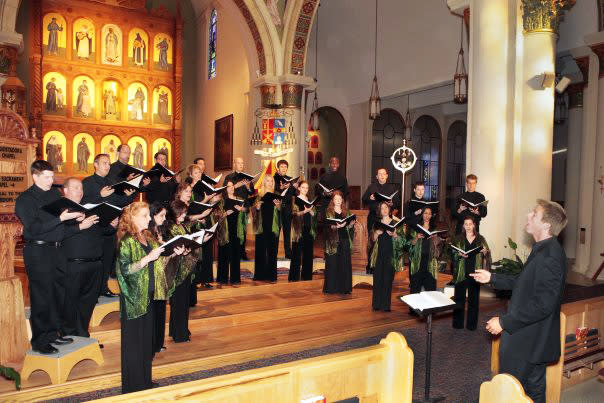 The Santa Fe Desert Chorale makes the rafters ring in Santa Fe's beautiful Basilica Cathedral of St. Francis