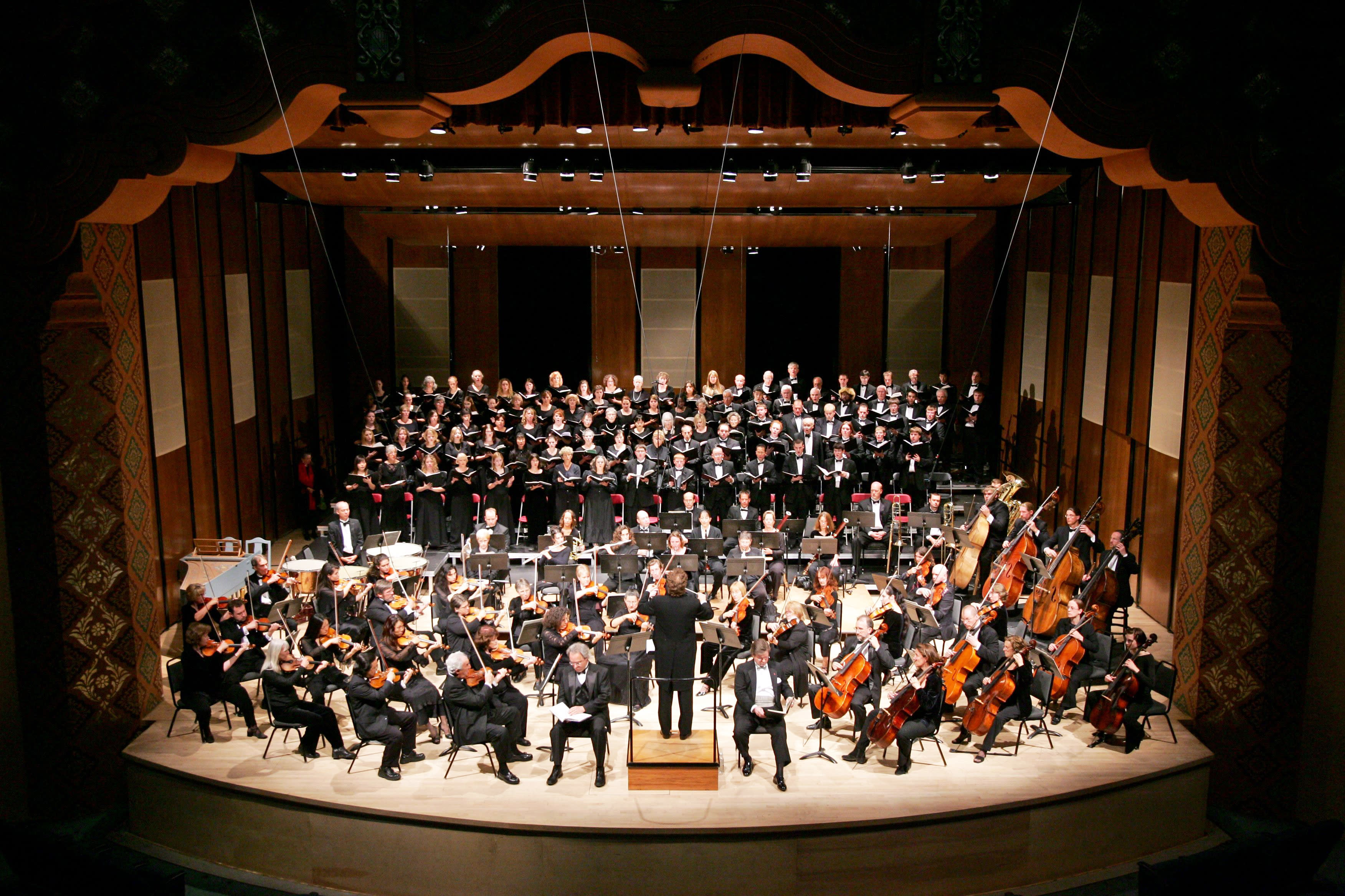 It takes a village, or at least a whole chorus, to bring Handel's Messiah to the stage of the Lensic in Santa Fe.