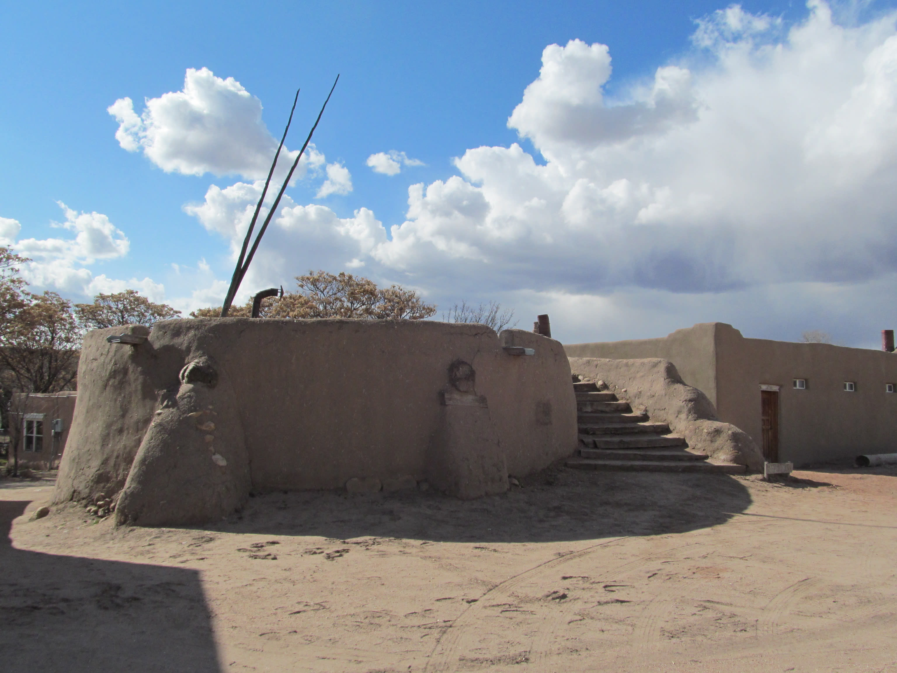 Kivas are a central feature of Pueblo communities, used for ceremonial and/or political gatherings.