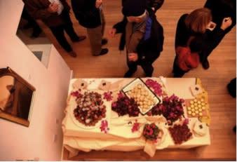 An artistic setting for artful food at the Santa Fe ARTFeast Edible Art Tour. (Photo courtesy of ARTSmart)