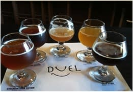 Ring around the rosy, a pocket full of brews awaits at Duel Brewery.