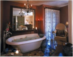 Relax with your honey in a bath or rose petals. (Photo credit: Inn and Spa at Loretto)